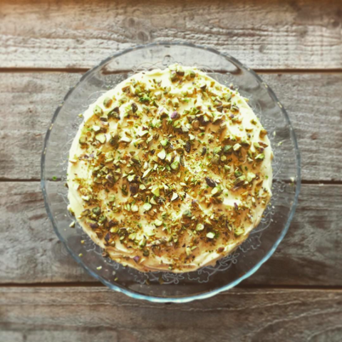 Courgette cake with lime frosting