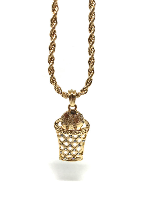 Basketball Gold Necklace