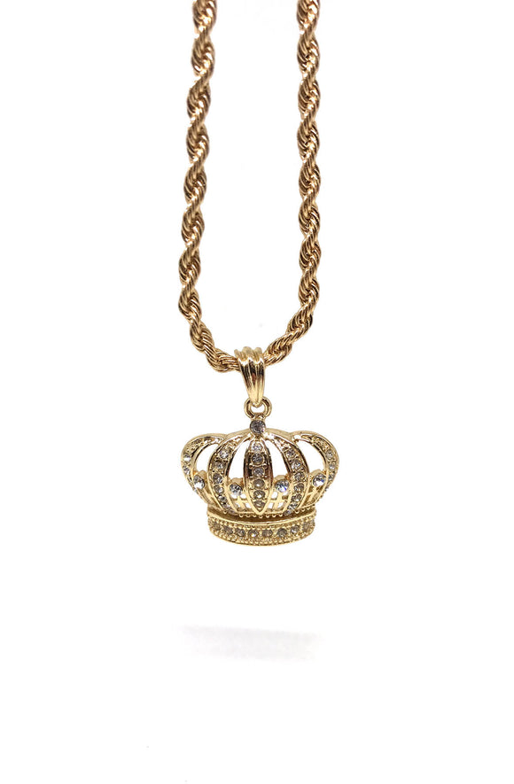 King Crown Gold Necklace
