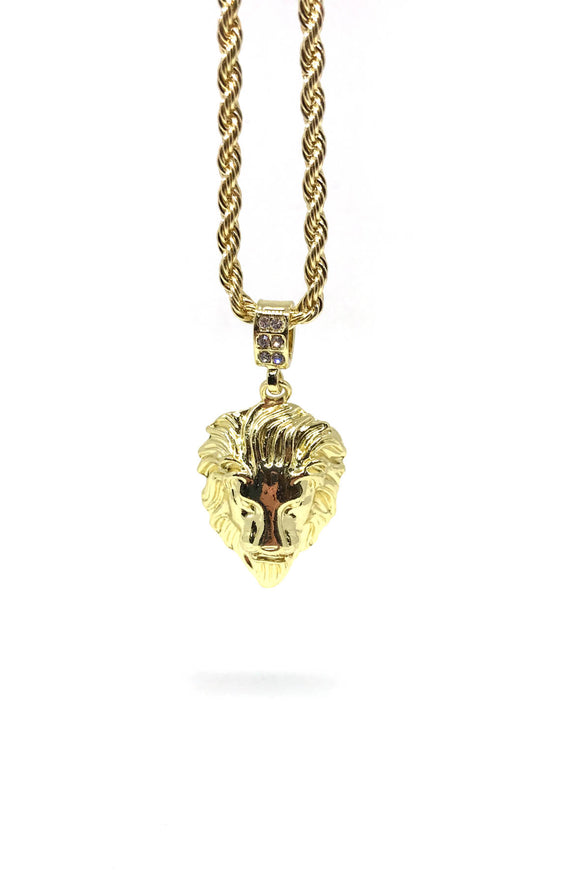 Lions Head Gold Necklace
