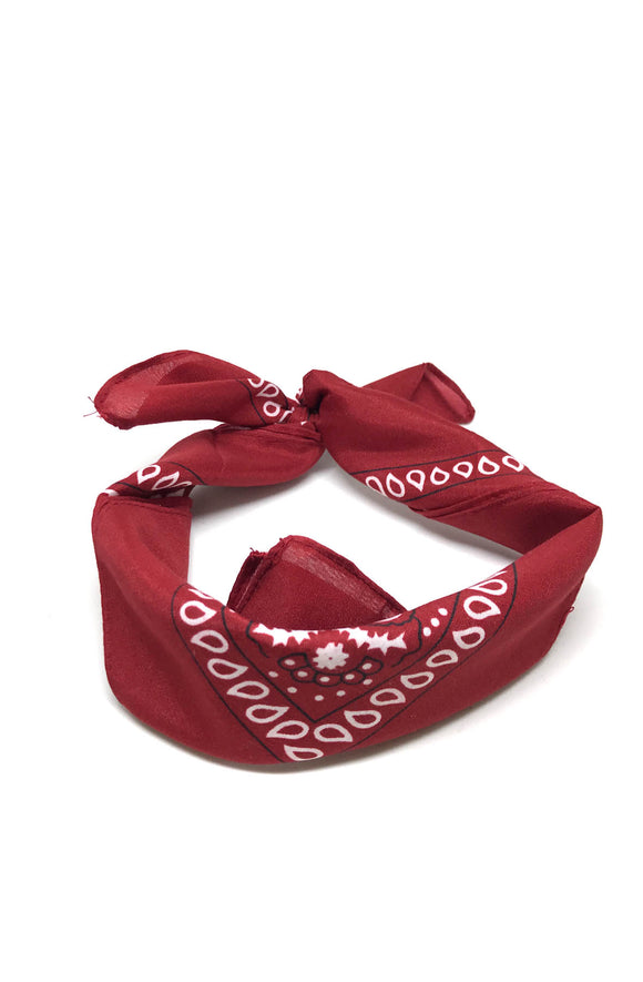 Traditional bandana in Burgundy