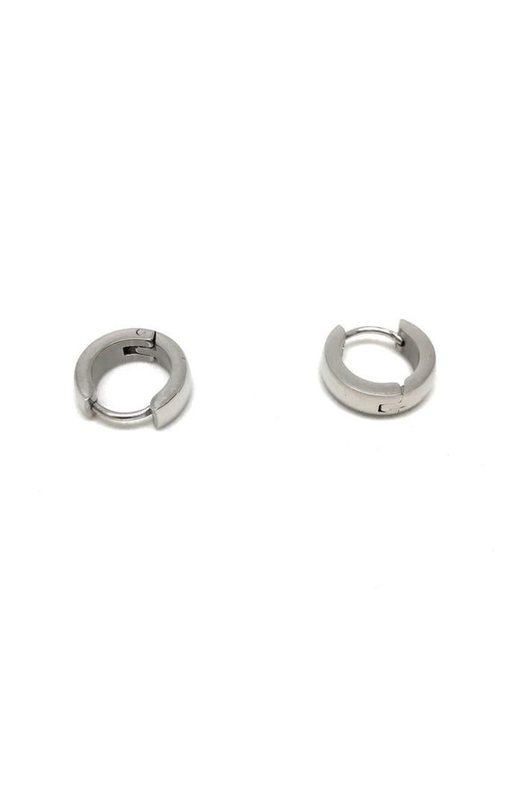 Stainless Steel Silver Hoop Earrings
