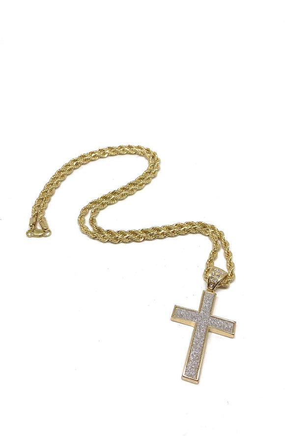 Edge Cross Necklace