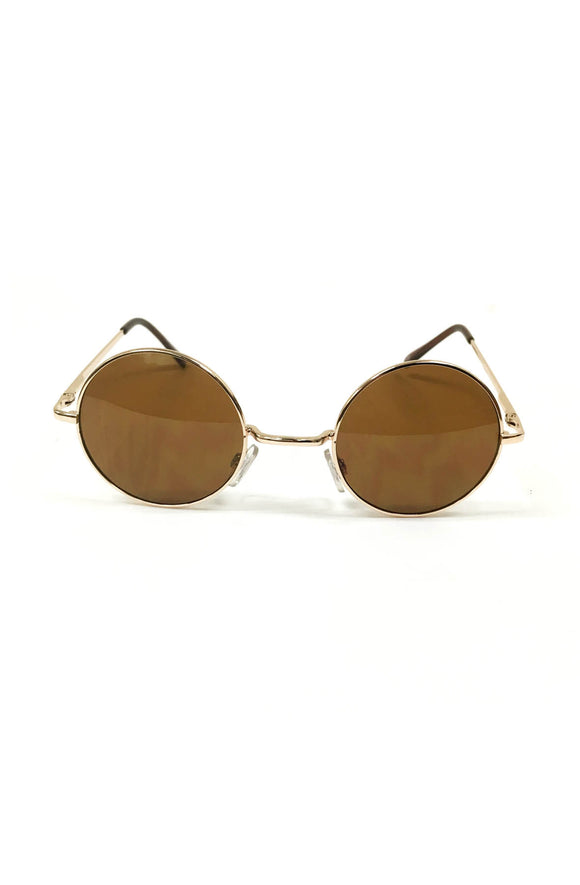 Round Lennon Sunglasses in Brown