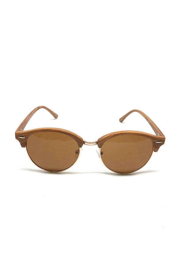 Stan Tan Round Sunglasses