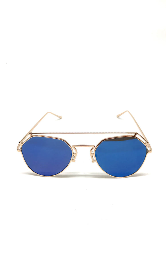 The Stern Sunglasses in Mirrored Blue
