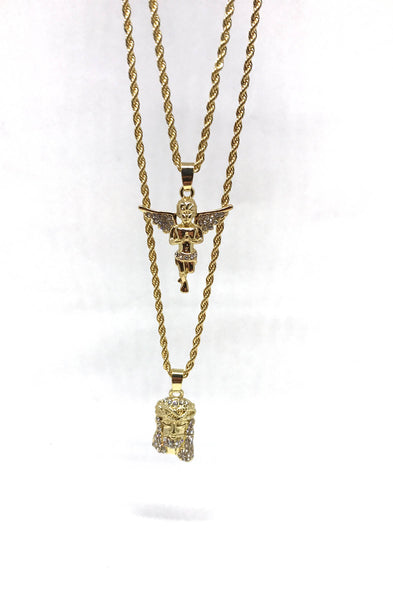 micro mini necklace piece mens lab men sterling set silver jesus chain diamond s iced out pendant