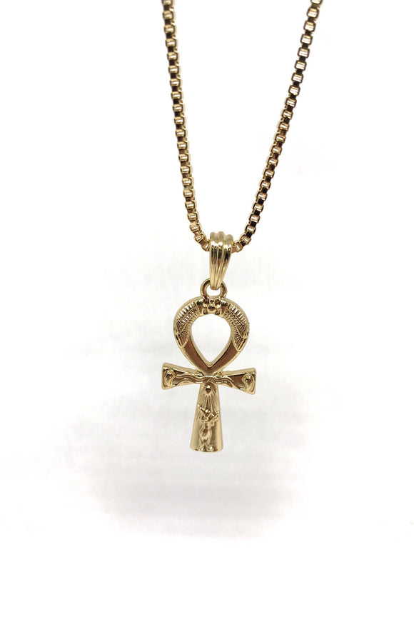 Ankh Cross Gold Necklace
