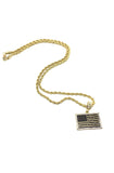 Black American Flag Necklace