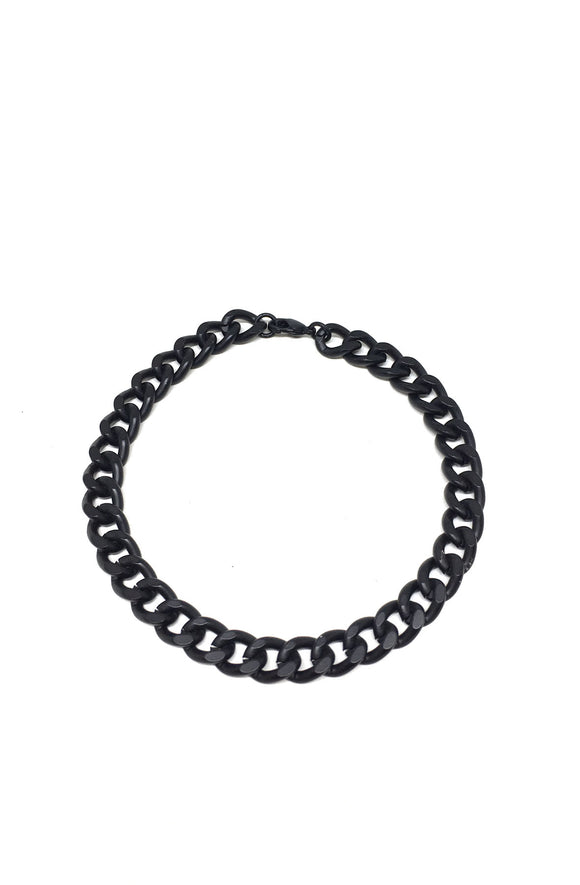 Curb Chain Bracelet in Black