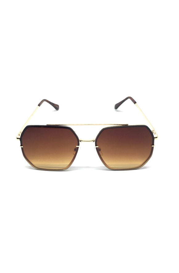 The Ed Sunglasses in Brown/Silver