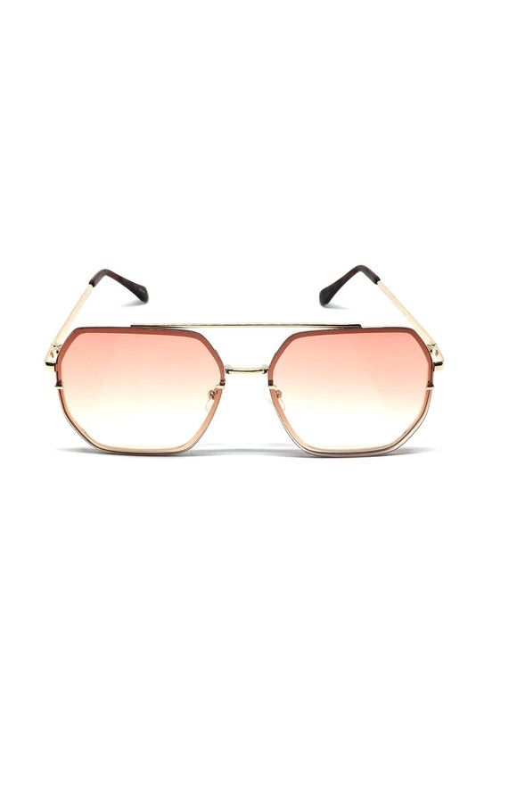 The Ed Sunglasses in Rose/Silver