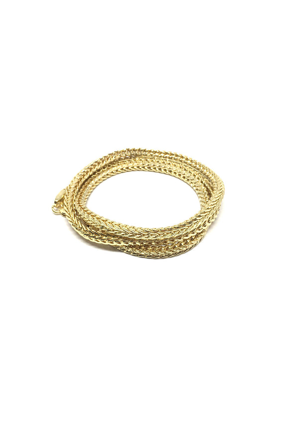 Franco Chain Triple Wrap Bracelet in Gold