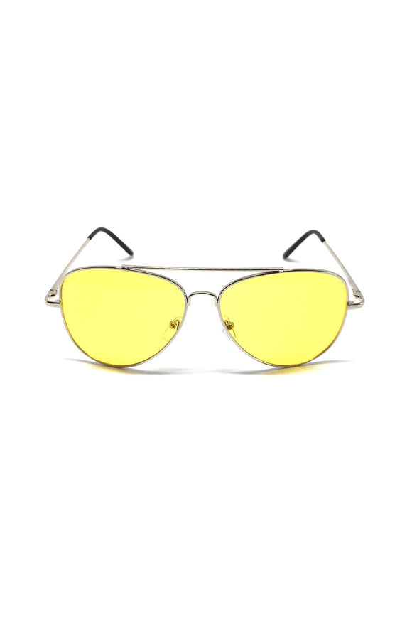 The Gunner Sunglasses in Yellow/Silver