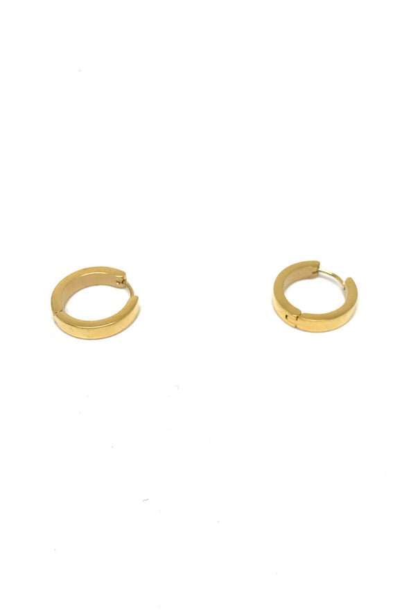 Stainless Steel Gold Big Hoop Earrings