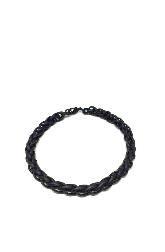 Twist Chain Bracelet in Black