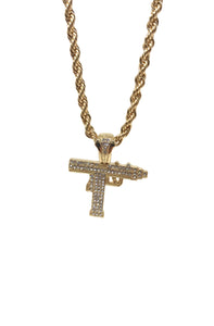 Iced Out Uzi Gold Necklace