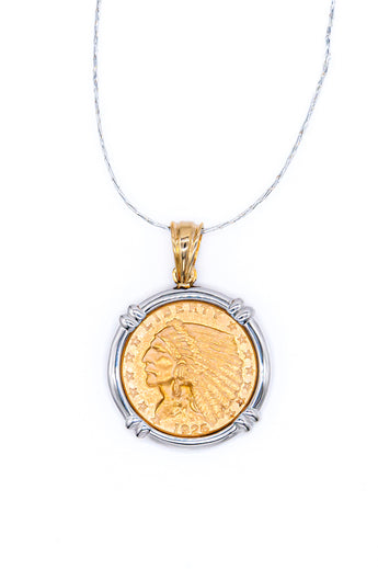 2 1/2 Dollar Coin Pendant