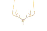 Diamond Antler Pendant