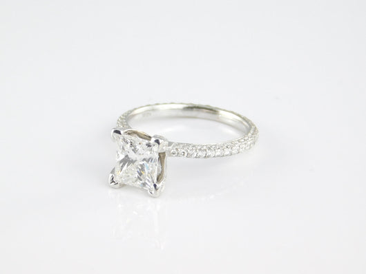 Princess Cut 1.5ct Center Bridal Set