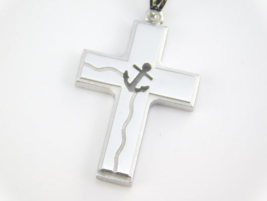 Sterling Silver Nautical Cross Pendant