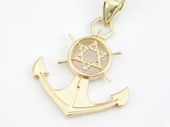 Star of David Anchor Pendant