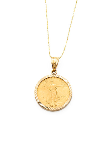 Fine Gold 10 Dollar Coin Pendant