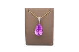 Pear-shaped Kunzite Pendant