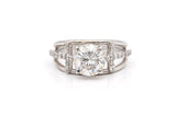 Faith Moissanite  and Diamond Ring