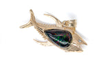 Black Opal Fish Pendant