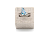 Custom Cut Blue Topaz Ring