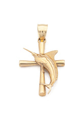 Marlin and Cross Pendant