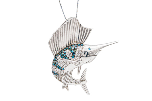 Diamond Billfish Pendant