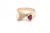 Angular Ruby Ring