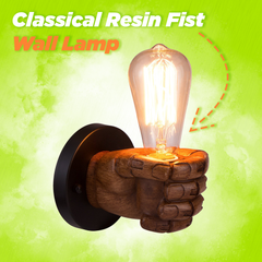 Classical Resin Fist Wall Lamp