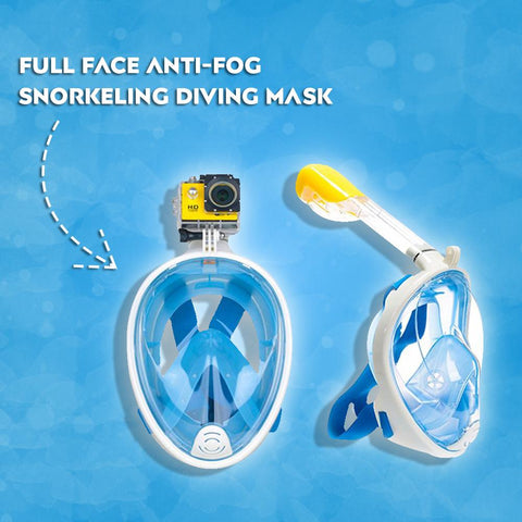 Full Face Snorkel & Dive Mask with GoPro Attachment
