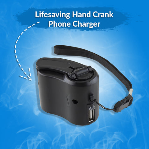 Lifesaving Hand Crank Phone Charger
