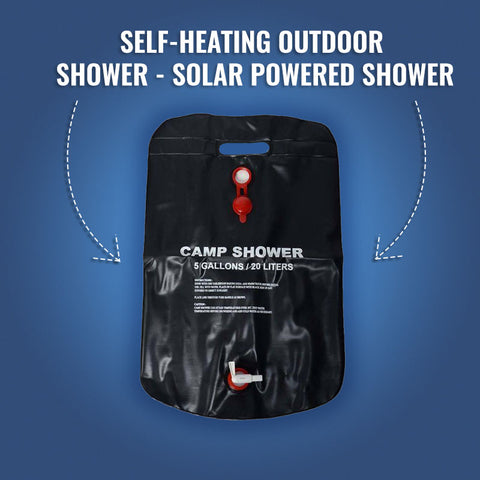 Self-Heating Outdoor Shower - Solar powered Shower