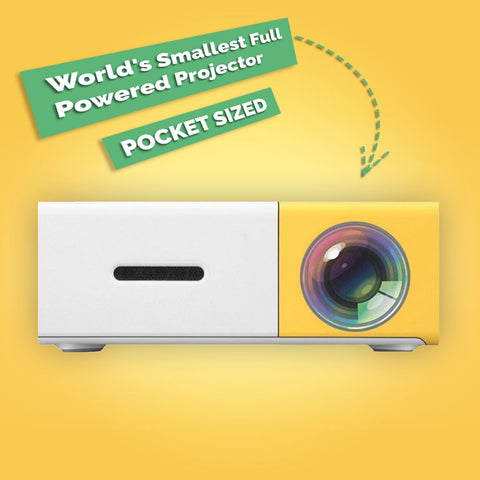 World's Smallest Full-Powered Projector - POCKET SIZED