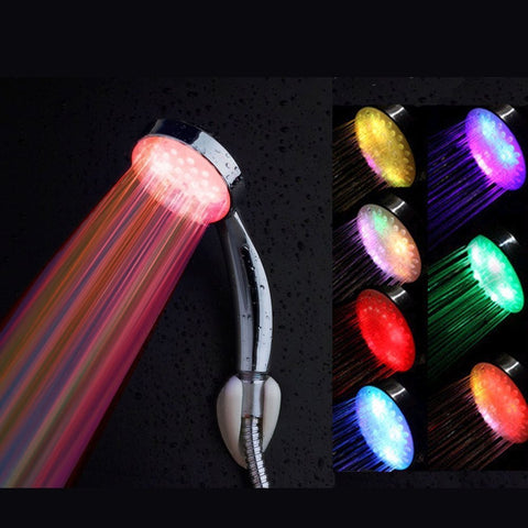 Rainbow Bathroom Shower Head - 8 Light LED