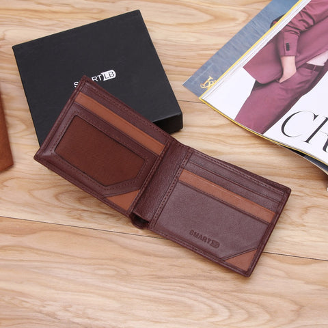 Genuine Leather Smart Wallet - Alarm, GPS, Bluetooth, Anti-Theft