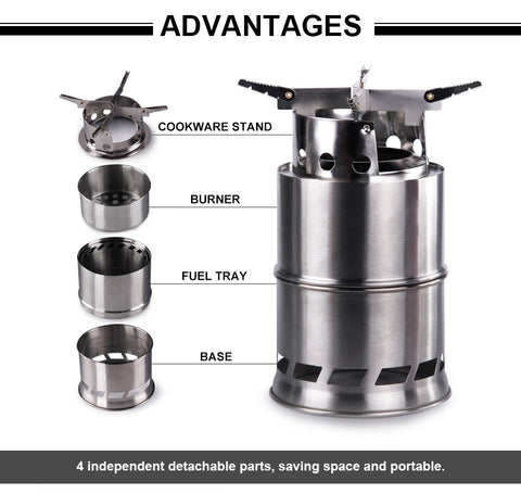 Ultra-Portable Wood Burning Camping Stove