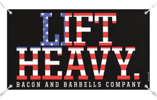 Load image into Gallery viewer, LIFT HEAVY CAN/USA Gym Banners (Black/Red/White)