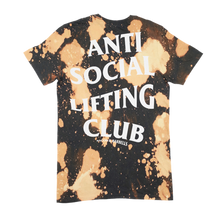Load image into Gallery viewer, ANTI SOCIAL LIFTING CLUB BLEACHED Tee (Black/White/Bleach)