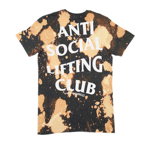 ANTI SOCIAL LIFTING CLUB BLEACHED Tee (Black/White/Bleach)