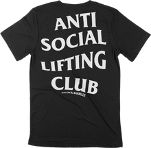 Load image into Gallery viewer, ANTI SOCIAL LIFTING CLUB Tee (Black/White)