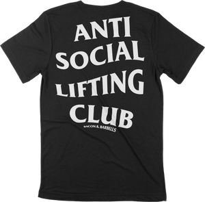 ANTI SOCIAL LIFTING CLUB Tee (Black/White)