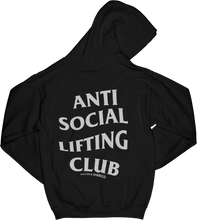 Load image into Gallery viewer, ANTI SOCIAL LIFTING CLUB Hoodie (Black/White)