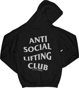 ANTI SOCIAL LIFTING CLUB Hoodie (Black/White)