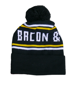 EAT BACON LIFT HEAVY Beanie (Black/White/Yellow)